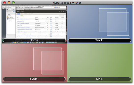 Current Hyperspaces switcher